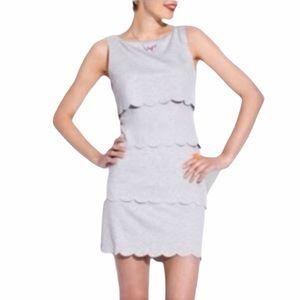 Philosophy Gray Jersey Knit Scallop Dress Size S